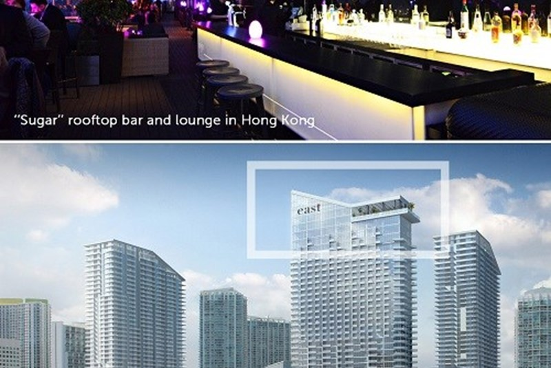"""New """"Sugar"""" Lounge Revealed for Brickell City Centre's EAST Hotel"""