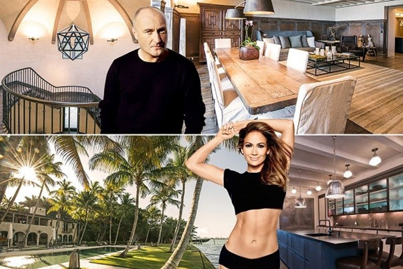 Phil Collins Buys J-Lo's Old Miami Beach Mansion for $33 Million