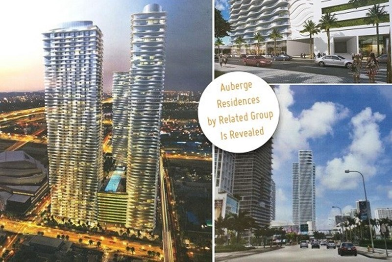 Auberge Residences' Triple-Tower Multiproject Renderings and Plans Released