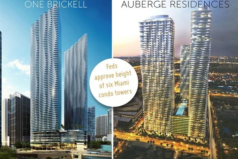 FAA Approves Heights Of Six Towers At One Brickell, Auberge Residences