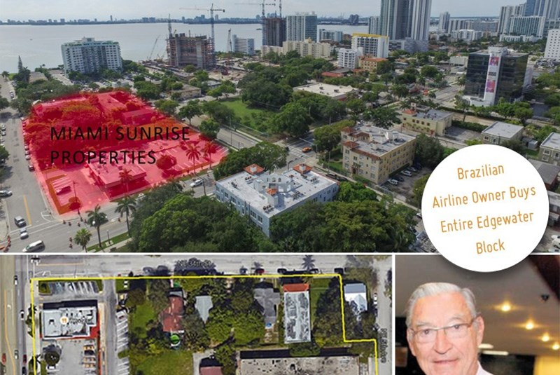 Brazilian Airline Owner Purchases Entire Edgewater Block… Well Almost