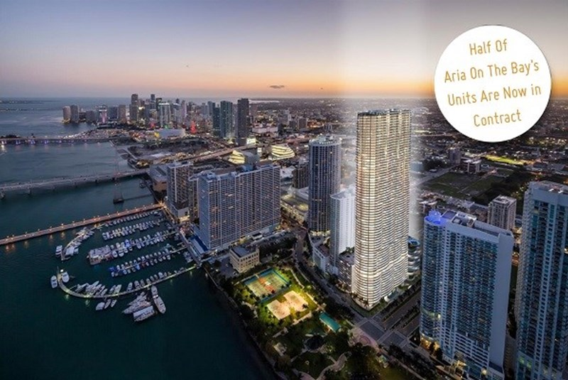Aria On The Bay Reaches Sales Milestone with 50% of Units Under Contract