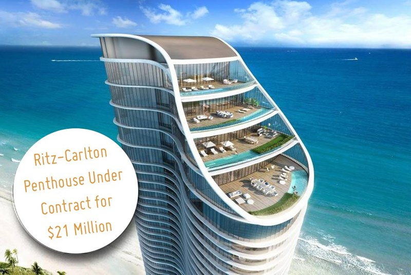 Ritz-Carlton Mega-Penthouse Unit under Contract for $21 Million