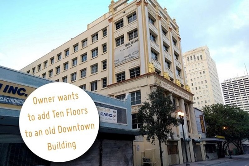 Redevelopment Plans Will Add 10 Stories to a 90 Year-Old Building in Downtown Miami