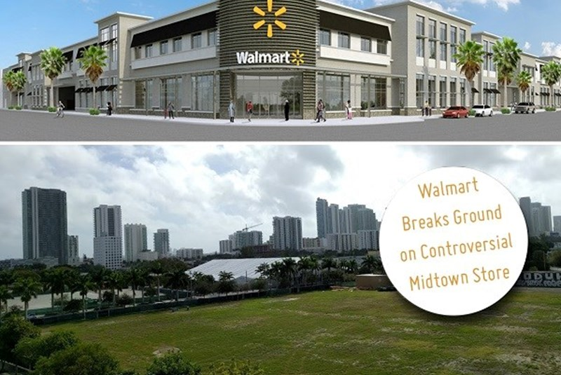 New Walmart under Construction in Midtown Miami