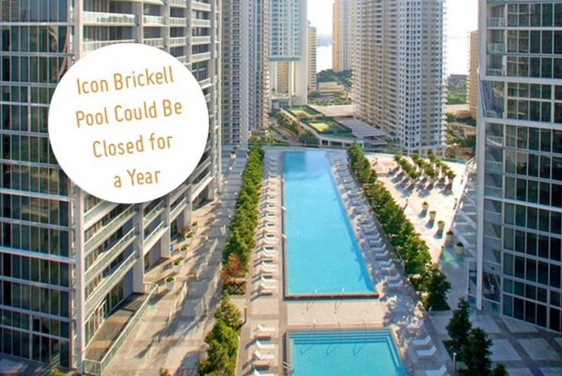 The Pool at Icon Brickell Could Be Closed for a Year after Leaks and Other Problems