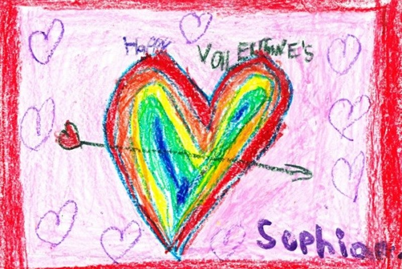 """Love Is Colors"" from Our First Petite Artist…"