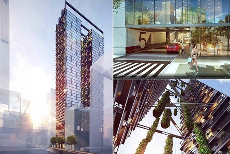 """New Tower Coming to Flagler Street with a """"Secret Garden"""" on Top"""